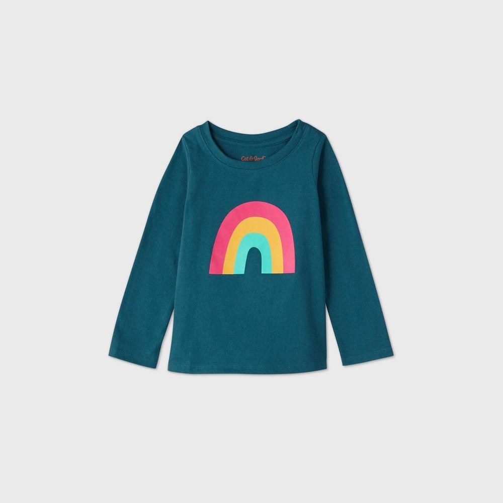 Promos Toddler Girls' Rainbow Long Sleeve T-Shirt - Cat & Jack™
