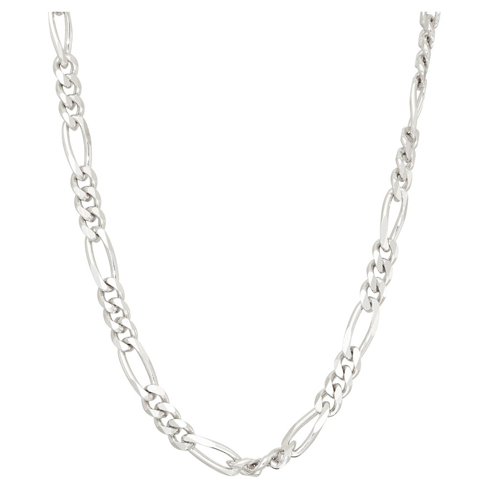 Tiara Sterling Silver 20 Figaro Chain Necklace, Size: 20 inch