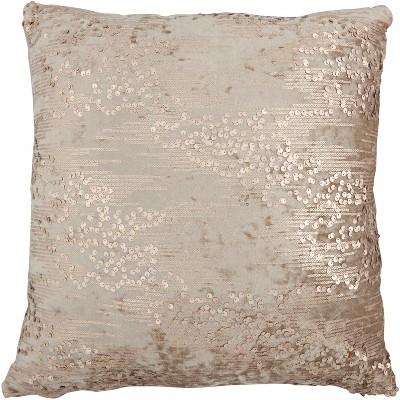 "Inspire Me! Home Decor VV206 Rose Gold 20"" x 20"" Throw Pillow"