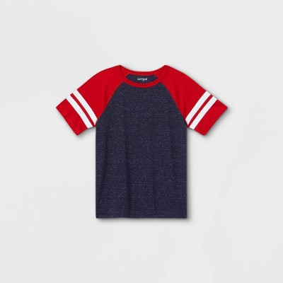 Boys' Short Sleeve Baseball T-Shirt - Cat & Jack™ Red/Navy