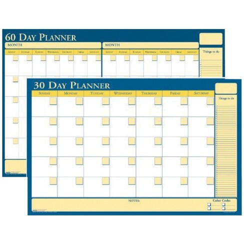 House of Doolittle Laminated Write and Wipe Wall Planner, 36 x 24 Inches, 30/60 Day - image 1 of 1