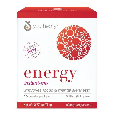 Youtheory Energy Instant-Mix Powder Packets - 15ct
