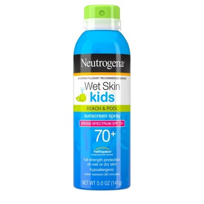 Sunscreen & Tanning: Neutrogena Wet Skin Kids