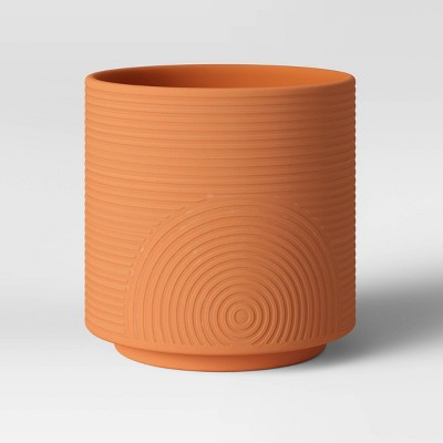 "8"" Embossed Planter Terracotta - Project 62™"