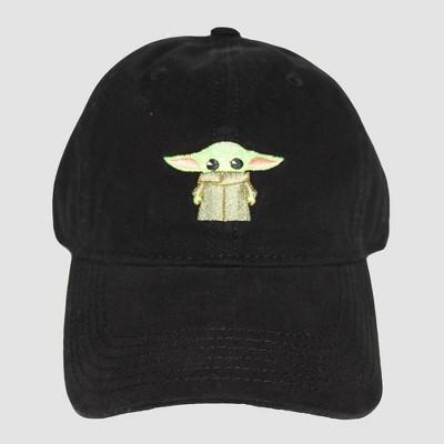 Men's Star Wars Mandalorian Baby Yoda Cap - Black One Size