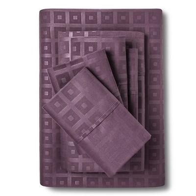 6pc Christopher Knight Home Natalia Cavalletto Box Design Sheet Set - Plum (King)