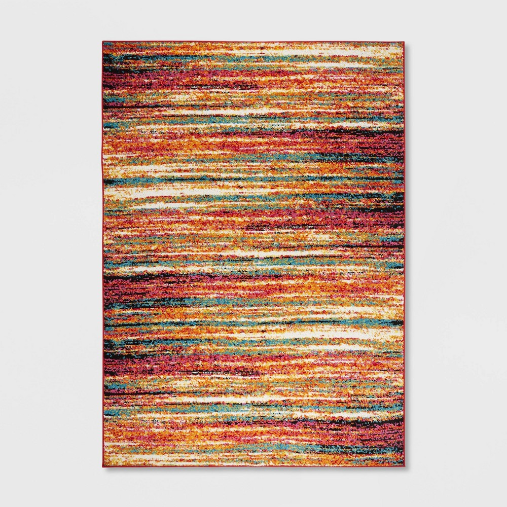"""Image of """"5'2""""""""x7'2"""""""" Splash Abstract Stripe Area Rug - Home Dynamix"""""""