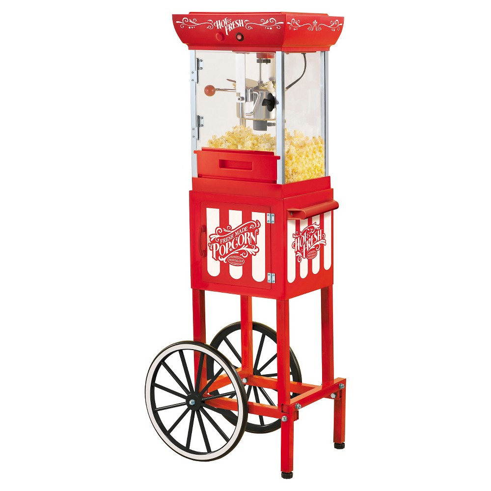 Nostalgia Vintage Collection Kettle Popcorn Cart - Red CCP399