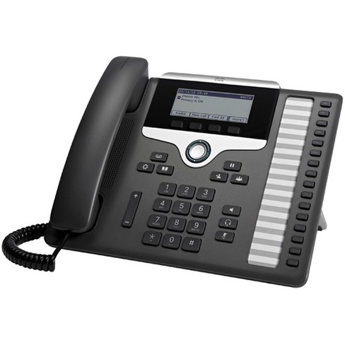 Cisco 7861 IP Phone - Wall Mountable - 16 x Total Line - VoIP - Caller ID - SpeakerphoneEnhanced User Connect License - 2 x Network (RJ-45) - image 1 of 1