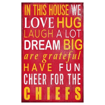 NFL Fan Creations In This House Sign