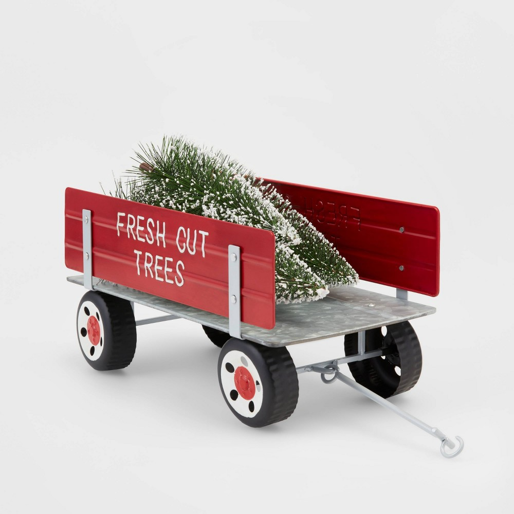 Image of Large Fresh Cut Trees Wagon with Christmas Trees Decorative Figurine - Wondershop