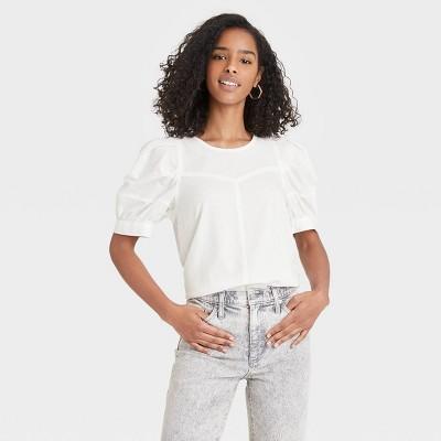 Women's Puff Short Sleeve Blouse - Universal Thread™