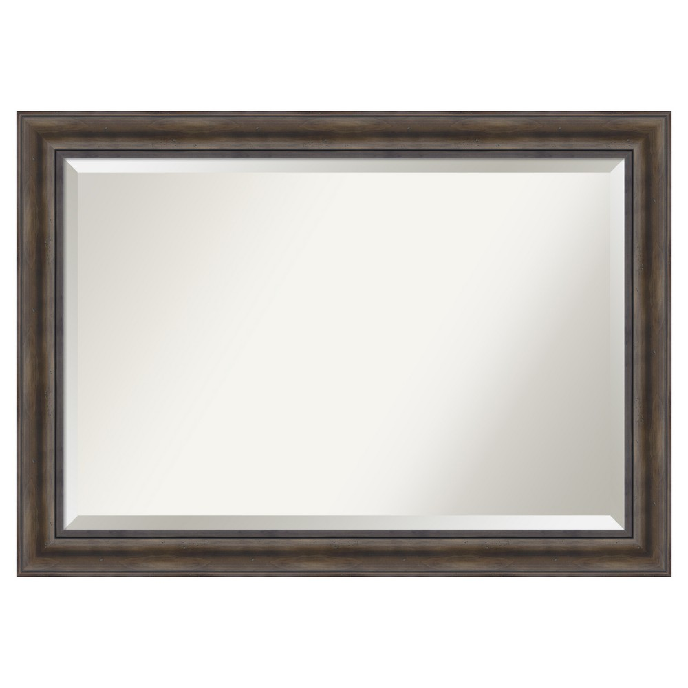 "Image of ""36""""x24"""" Wall Mirror Extra Large Rustic Pine"""
