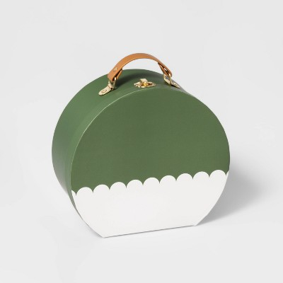 Medium Round Paper Box Green - Pillowfort™