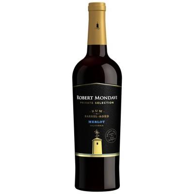 Robert Mondavi Private Selection Rum Barrel Merlot Red WIne - 750ml Bottle