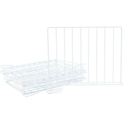 Juvale 8 Pack Metal Wire Shelf Dividers for Closet Organizers Shelves Storage, White 10.75 x 12.75 in