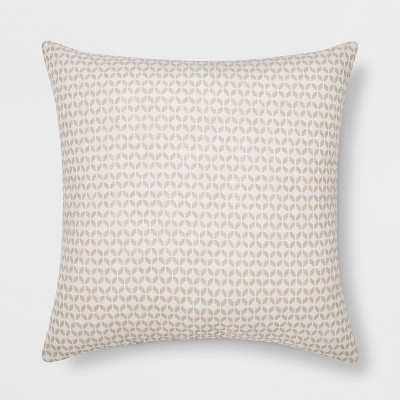 Woven Geo Square Throw Pillow Cream/Neutral - Project 62™