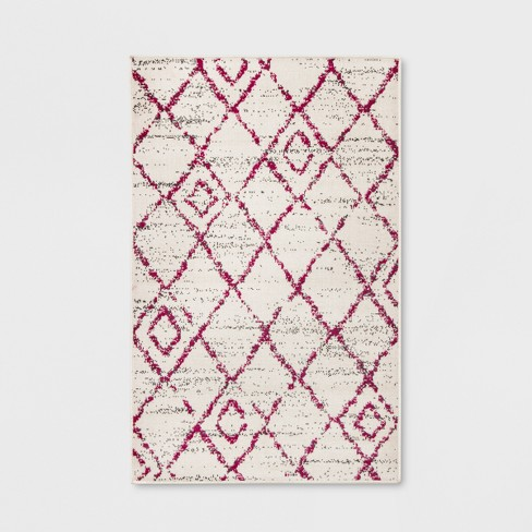 Diamond Berry Outdoor Rug Pink - Opalhouse™ - image 1 of 3