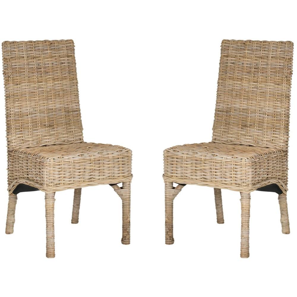 Set of 2 Dining Chair Set Wood/Natural - Safavieh