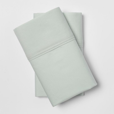 Organic Pillowcases (Standard)Gray Mint 300 Thread Count - Threshold™