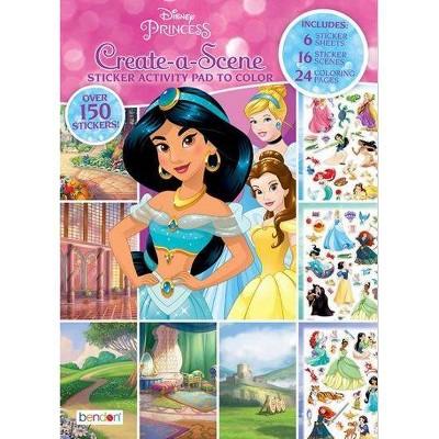 Disney Princess Create a Scene Book - Target Exclusive Edition (Paperback)