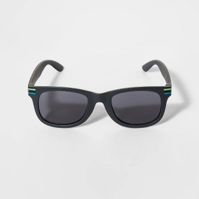 Boys' Stripe Wrap Sunglasses - Cat & Jack™ Black