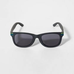 Boys' Stripe Wrap Sunglasses - Cat & Jack™ Black
