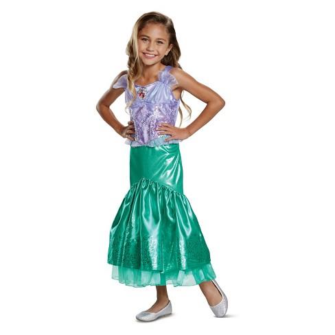 6bc55d56174e7 Toddler Girls' Disney Princess Ariel Deluxe Halloween Costume 3T-4T