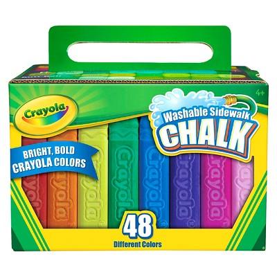 Crayola 48ct Washable Sidewalk Chalk - Bold Colors