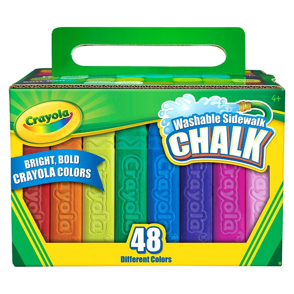 Crayola Sidewalk Chalk Washable 48ct, Multi-Colored