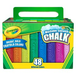 Crayola 48ct Washable Sidewalk Chalk Assorted Colors