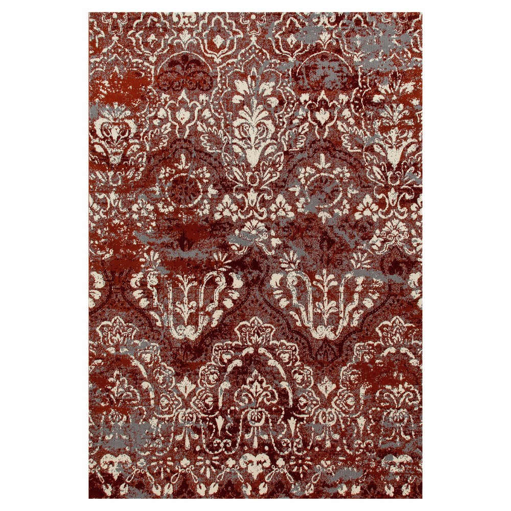 Red Classic Woven Area Rug - (5'X8') - Art Carpet