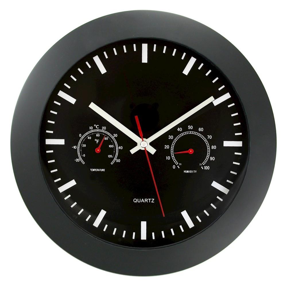 "Image of ""Gauges 12"""" Wall Clock Matte Black - TimeKeeper"""