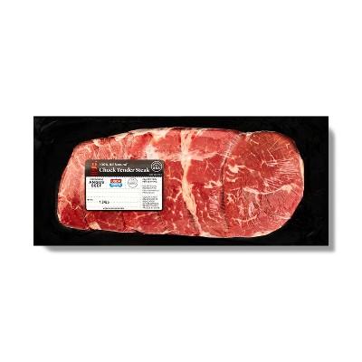 USDA Choice Angus Chuck Tender Steak - 0.86-1.49 lbs - price per lb - Good & Gather™