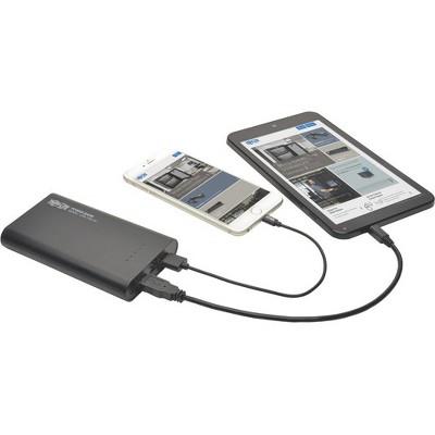 Tripp Lite Portable 2-Port USB Battery Charger Mobile Power Bank 12k mAh