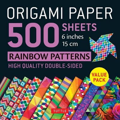 Origami Paper 500 Sheets Rainbow Patterns 6 (15 CM) - by  Tuttle Publishing (Loose-Leaf)