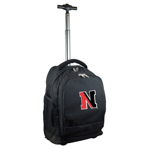 NCAA Northeastern Huskies Black Premium Wheeled Backpack - image 1 of 6