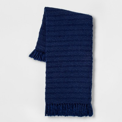 Chunky Woven Throw Blanket Blue - Threshold™
