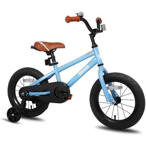 JOYSTAR Totem Series 16-Inch Ride-On Kids Bike with Coaster Braking, Training Wheels & Kickstand, Blue - image 1 of 4
