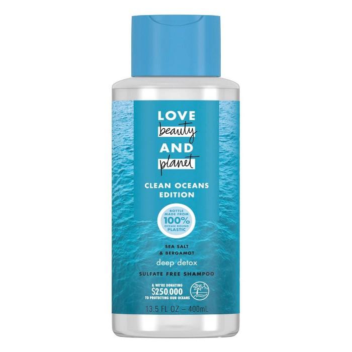 Love Beauty And Planet Clean Ocean Sea Salt & Bergamont Shampoo - 13.5 Fl Oz : Target