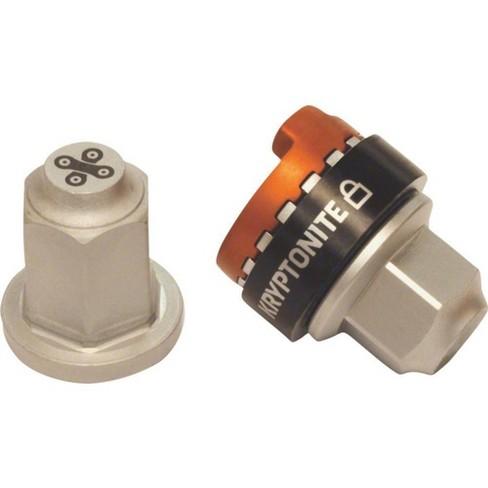 Kryptonite Security Wheelnutz Solid Axle Locking Nuts Silver M10 - image 1 of 1