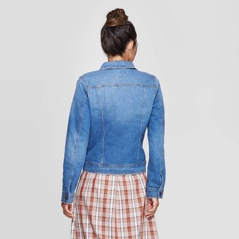 3b8935d12 Women's Essential Freeborn Denim Jacket - Universal Thread™ Blue