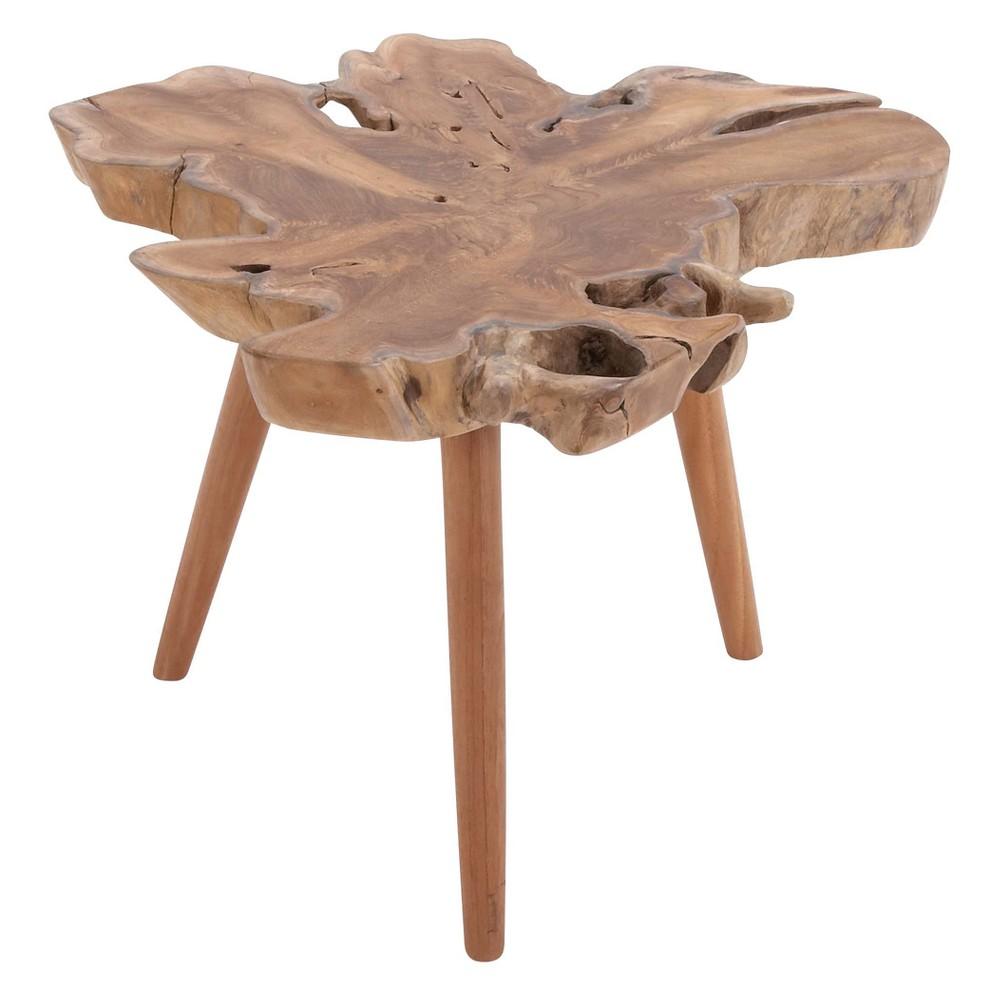 Teak Wood Burl Accent Table - Olivia & May, Multi-Colored
