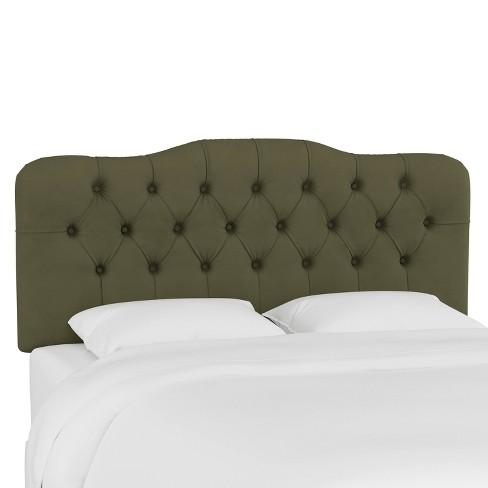 Full Tufted Headboard Velvet Loden - Skyline Furniture - image 1 of 4