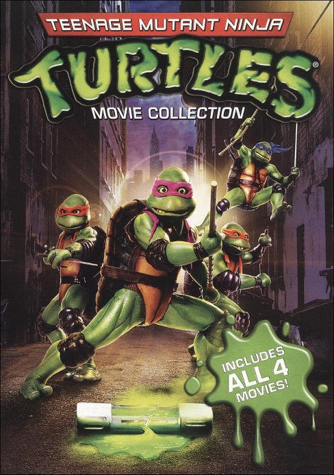 Teenage Mutant Ninja Turtles Film Collection (4 Discs) (With 4 Masks/Travel Case) (S) (Widescreen) - image 1 of 1