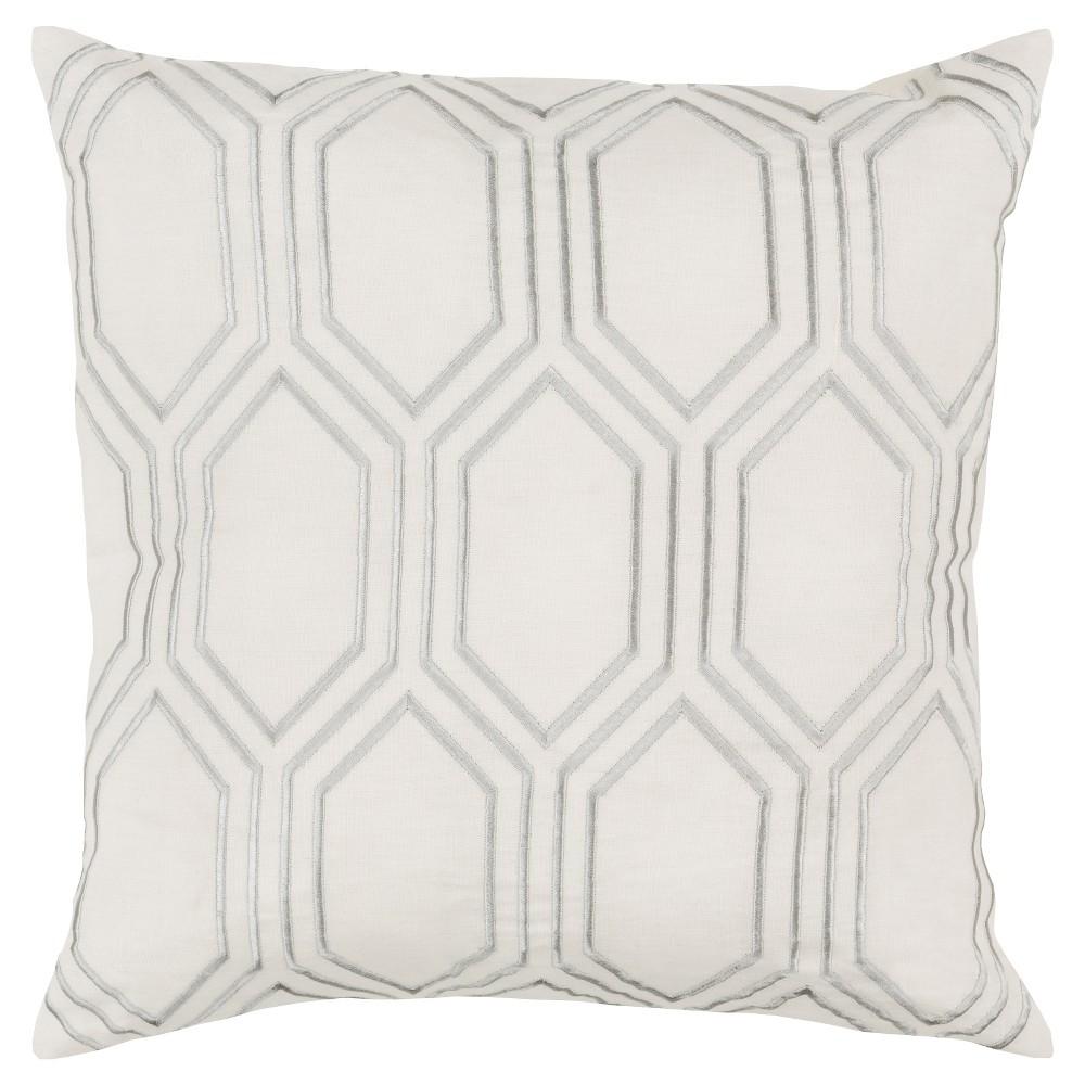Ivory Avalon Diamond Throw Pillow 18