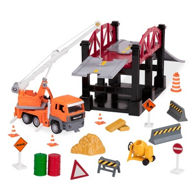 DRIVEN – Construction Playset with Bridge (35pc) – Micro Series