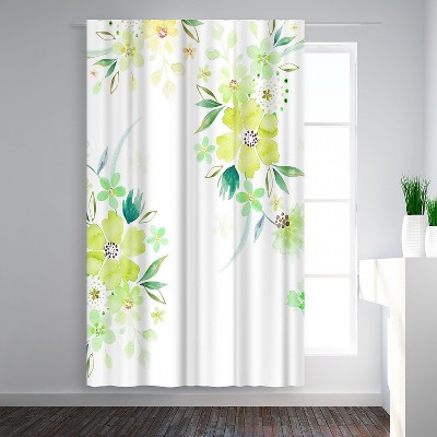 Green Floral Curtains Target