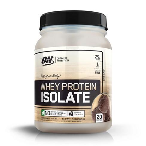 8d7e18869 Optimum Nutrition Whey Isolate Protein Powder - Chocolate - 24oz   Target