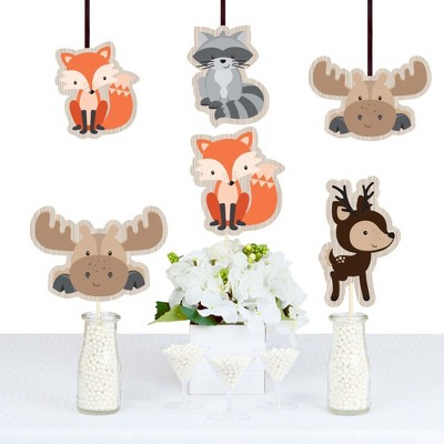Big Dot of Happiness Woodland Creatures - Animal Shaped Decorations DIY Baby Shower or Birthday Party Essentials - Set of 20